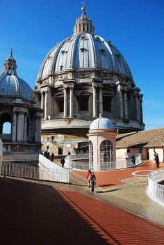 The roof of Saint Peter's Basilica, Rome