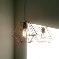 Wire lamp shade, industrial appeal