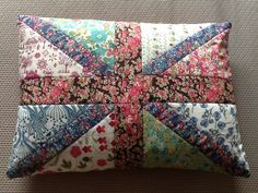 Union Jack cushion in Liberty fabric                                                                                                                                                                                 More