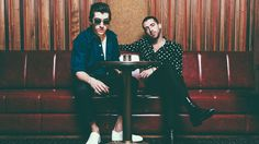 Alex Turner (left) and Miles Kane of The Last Shadow Puppets