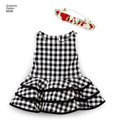 Items similar to American Girl Doll Clothes Pattern, 18 inch Doll Clothes Pattern, 18 inch Doll Dress Pattern, Simplicity Sewing Pattern 8536 on Etsy Kids Frocks Design, Baby Frocks Designs, Kids Dress Wear, Little Girl Dresses, Doll Dress Patterns, Girl Doll Clothes, Toddler Dress, American Girl, Kids Outfits