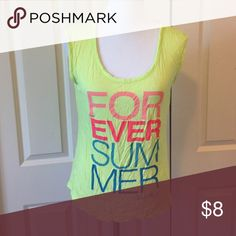 Forever Summer Tank Lime green with neon print Old Navy Tops Tank Tops
