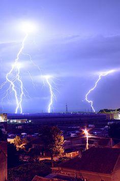 Lightning strikes. Roumania.