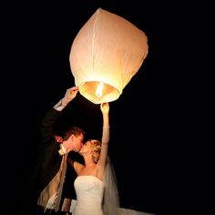 Floating wish lanterns - able to send off wishes for their marriage