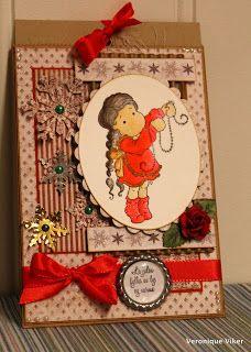 Christmas card with tag