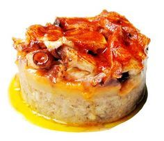 Coulant de pulpo con patata, huevo y butifarra Ingredientes: 100 gr de patata variedad monalisa 1 huevo 2 tiras de butifarra bl...
