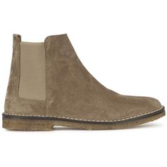 Vince Cody Shearling Lined Suede Ankle Boots (€120) ❤ liked on Polyvore featuring shoes, boots, ankle booties, shearling lined boots, short boots, round toe boots, slip on ankle boots en rubber sole boots