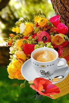 Coffee Mug Quotes, Coffee Art, Coffee Cups, Espresso Cups, I Love Coffee, Black Coffee, Good Morning Coffee Gif, Flower Phone Wallpaper, Breakfast Tea