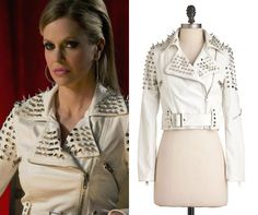 2493697bdd Pam s awesome studded leather coat - True Blood Season 5 Episode 10 True  Blood Party