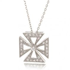 Bling Jewelry Cubic Zirconia Antique Style Byzantium Cross Necklace 925 Sterling Silver * Check out the image by visiting the link. Cross Jewelry, Bling Jewelry, Pendant Jewelry, Diamond Jewelry, Jewelry Necklaces, Pendant Necklace, Jewelery, Silver Chain Necklace, Cross Pendant