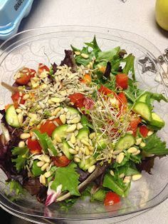 Committed to Get Fit: Ultimate Reset Day 1 lunch!  Microgreens salad was soo yummy!!!  :)