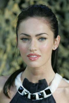 Megan Fox. Dewey fresh makeup. A subtle daytime look for BW.