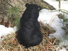 Handmade Needle Felted Animals Wool Woodland by ShellsMysticFelts
