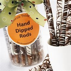 A perfect way to end the week with a bang would be our salty sweet combo of our Hand Dipped Pretzel Rods!