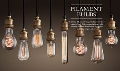 LOVE all the different shapes of these Edison bulbs... Restoration Hardware!