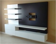 Lcd Unit Design, Modern Tv Unit Designs, Lcd Panel Design, Wall Unit Designs, Modern Tv Wall Units, Tv Stand Designs, Living Room Tv Unit Designs, Tv Unit Decor, Tv Wall Decor