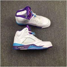 Air Jordan 5 Retro Mens Basketball shoes White purple blue2 Cheap Jordan  Shoes b12899fe9