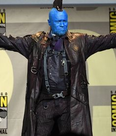 While saving the galaxy, you can be the sidekick of Peter by having this Yondu Coat from Guardians Of The Galaxy Vol 2 movie. Gardians Of The Galaxy, Guardians Of The Galaxy Vol 2, Gotg 2, Yondu Udonta, Merle Dixon, Michael Rooker, 2 Movie, Star Lord, Marvel Characters