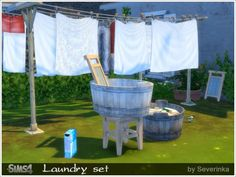 Laundry set at Sims by Severinka via Sims 4 Updates