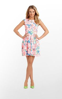 Briella Dress in Flutter Blue Lucky Charm $188 (w/o 2/2/12) #lillypulitzer #fashion #style