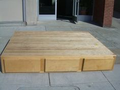 rescue industries - solid oak bed with drawers | things for home