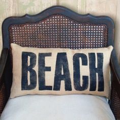 BEACH pillow http://www.oregonbeachvacations.com/