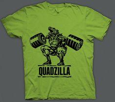 QUADZILLA Gym shirts-Funny