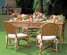 Ideias para decorar um Jardim com mesas