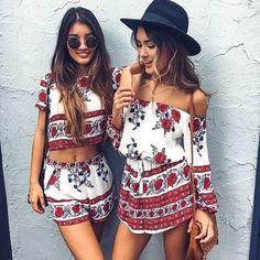 Rule Breaker playsuit in red floral SHOWPO Fashion Online