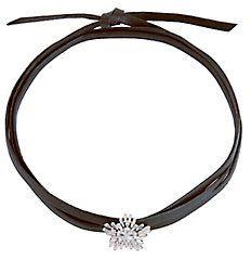 Fallon Monarch Leather Starburst Wrap Choker