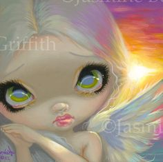 Faces of Faery Art Prints Archives - Page 3 of 21 - Strangeling: The Art of Jasmine Becket-Griffith Canvas Art Prints, Fine Art Prints, Pomes, Fairy Pictures, Angel Pictures, Gothic Fairy, Artist Portfolio, Fairy Art, Big Eyes