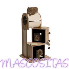 Rascador Gatos Vesper V-TOWER. Para que los gatos juguetones tengan un lugar donde jugar y afilarse las uñas.