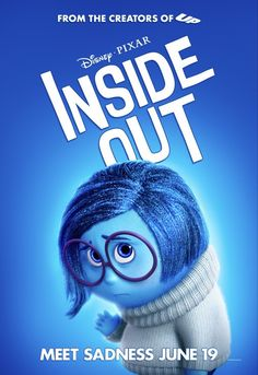Inside Out Sadness Poster Sadness Inside Out, Inside Out Emotions, Joy Inside Out, Movie Inside Out, Disney Inside Out, Pixar Movies, New Movies, Disney And Dreamworks, Disney Pixar