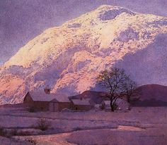 "Maxfield Parrish ""Mountain Farm"""