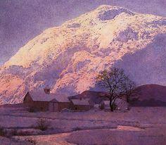 "Maxfield Parrish ""Mountain Farm"""