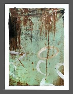 """""""Urban textures #1"""" Oil/Mixed Media by Mark Bettis on Paper"""