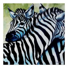 Zebra Love by Cherie Roe Dirksen #art #print #zebra