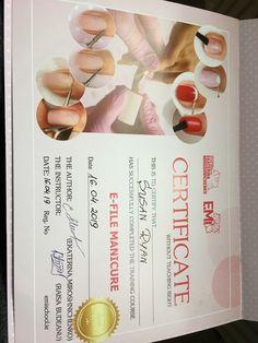 Nail certificate - e-file