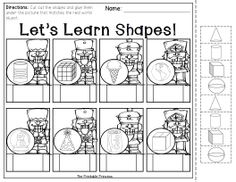 Shapes printables and activities for Kindergarten.