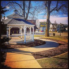 Beautiful morning in #puremichigan #gazebo #goalpoastpizza #discoverbirchrun