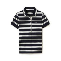 Women's Slim Fit Stripe Polo