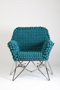 #Brazil #brazilian designer #armchair #knitting #handmade #home #interior design Buy it on www.hobosociety.com Follow us on www.facebook.com/hobosociety