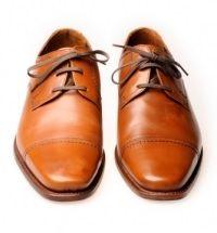Groom's Men - Tan cap-toe shoes