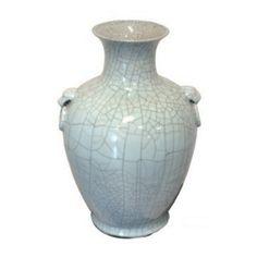 Ball Vase Crackled Celadon LS