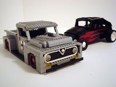LEGO Ford pickup and hotrod Bug