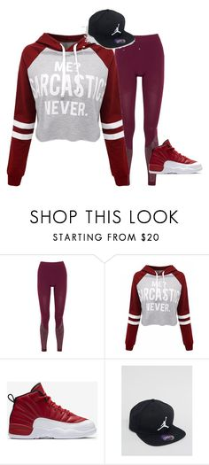 """""""Untitled #215"""" by young-queen777 ❤ liked on Polyvore featuring adidas, WithChic, NIKE and Jordan Brand"""