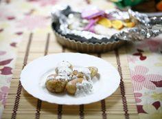 baked potatoes and fish/food
