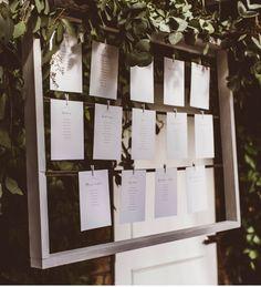 Eucalyptus table plan. Jay Rowden Photography #wedding #tableplan #seatingplan