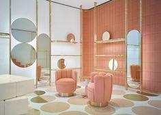 Interior designers who use colour in radical ways: India Mahdavi and her Red Valentino store design