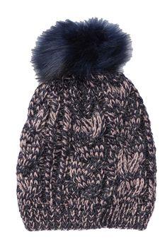 b6068569 Knit Faux Fur Pompom Beanie by Natasha Accessories on @nordstrom_rack  Beanies, Faux Fur,